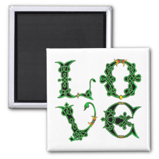 LOVE-CELTIC SQUARE MAGNET