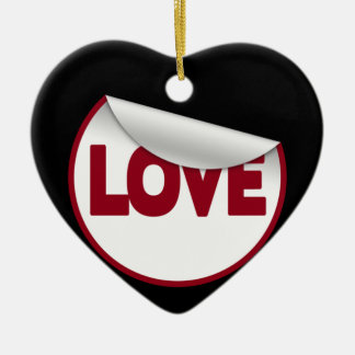 Love Ceramic Heart Decoration