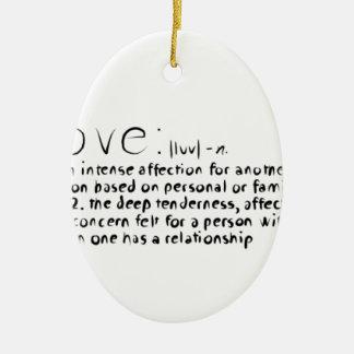 Love Ceramic Oval Decoration