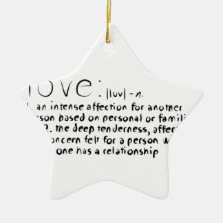 Love Ceramic Star Decoration