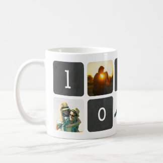 LOVE Chalkboard Photo Collage Basic White Mug