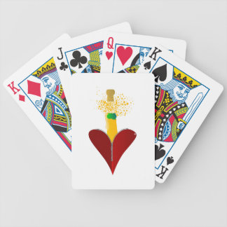 Love Champagne Bicycle Playing Cards