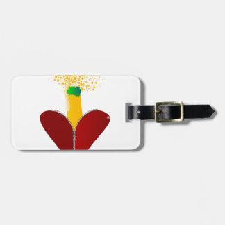 Love Champagne Luggage Tag