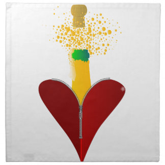 Love Champagne Napkin