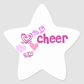 Love Cheer Star Sticker