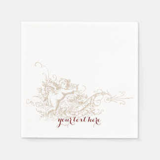 Love Cherub Wedding Paper Napkin Set