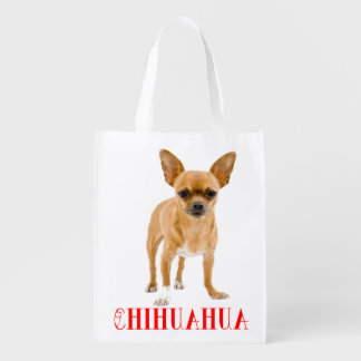 Love Chihuahua Puppy Dog Grocery Reusable Grocery Bag