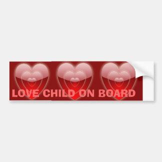 LOVE CHILD ON BOARD - BUMPER STICKER CAR BUMPER STICKER