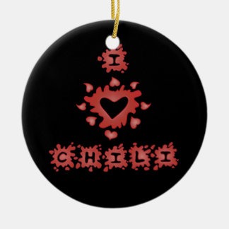 Love Chili Circle Ornament