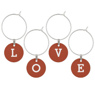 Love Chinese Red Simple One Color Wine Charm