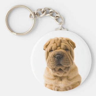 Love Chinese Shar Pei Puppy Dog Keychain