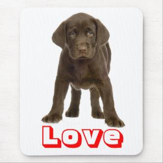 Love Chocolate Brown Labrador Retriever Puppy Dog Mouse Pad