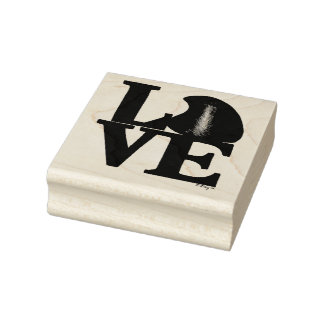 LOVE Chocolate Drop Candy Valentine's Day Stamp