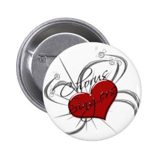 Love Chorus Singers Heart Pinback Buttons