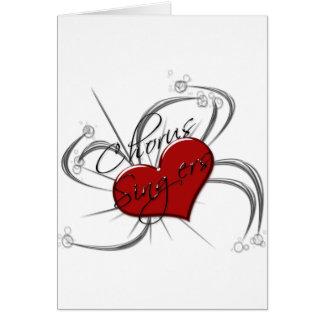 Love Chorus Singers Heart Greeting Card