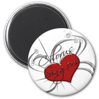 Love Chorus Singers Heart Refrigerator Magnet