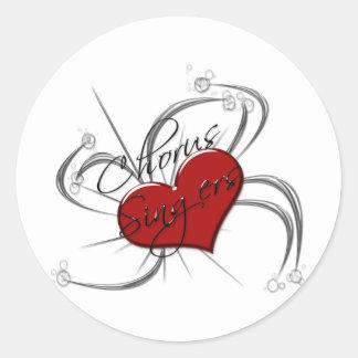 Love Chorus Singers Heart Round Sticker