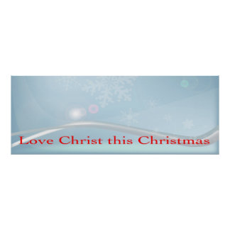 Love Christ This Christmas Poster. Poster