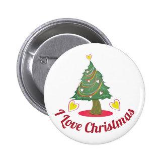Love Christmas 6 Cm Round Badge