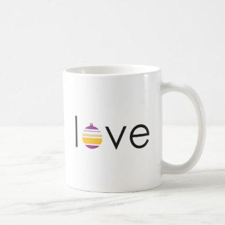 """""""love"""" Christmas Holiday Ornament Greeting Coffee Mug"""