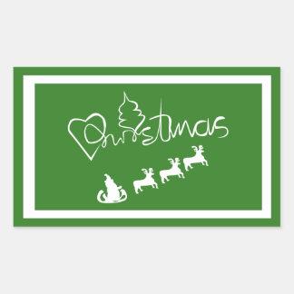 LOVE CHRISTMAS STICKER#holidayZ Rectangular Sticker