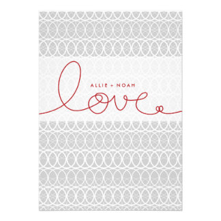Love Circles Couples Wedding Shower Party Invite Custom Invitations