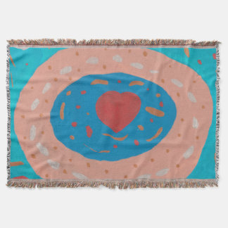 Love Circles Throw Blanket