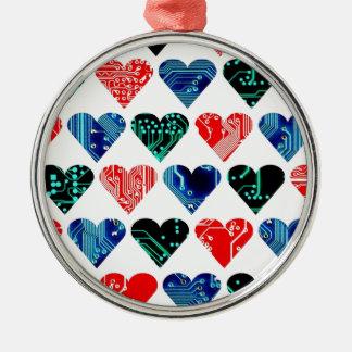 love circuit, Colors set 1 Silver-Colored Round Decoration