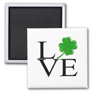 LOVE_Clover2 Square Magnet