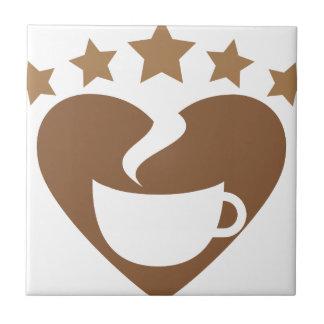 Love coffee tile