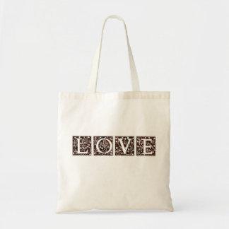 LOVE coffee tote Budget Tote Bag