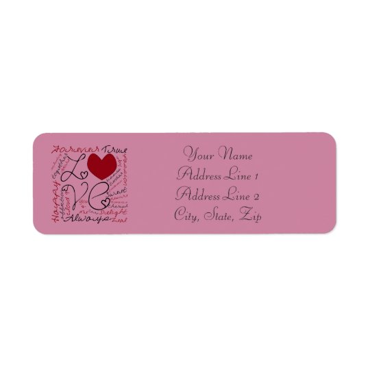 Love Collage - Personalise Return Address Label