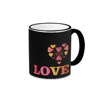 Love Collage Ringer Mug
