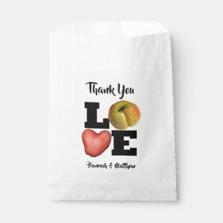 LOVE Collection Apple Potato Favor Bag