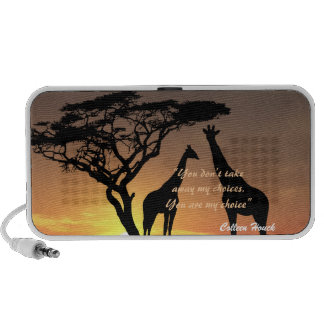 Love Colleen Houck quote giraffes nature design Laptop Speakers