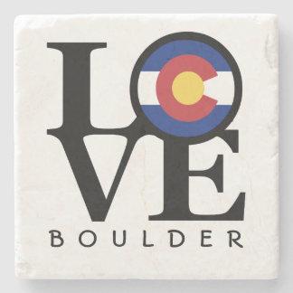 LOVE Colorado Boulder Stone Coaster