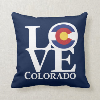 LOVE Colorado Throw Pillow