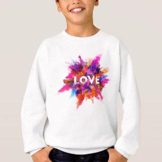 love colorful love explosion dust powder rainbow sweatshirt