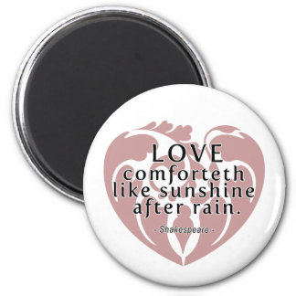 Love Comforteth Like Sunshine - Shakespeare Quote Magnet