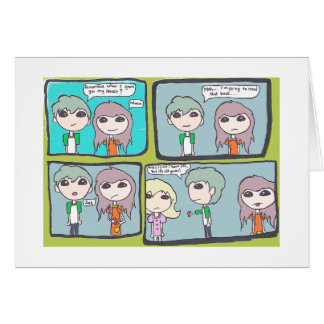 love comic strip greeting card