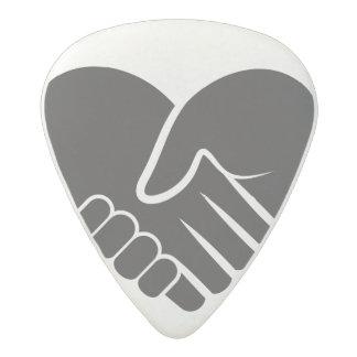 Love Connected black heart Acetal Guitar Pick