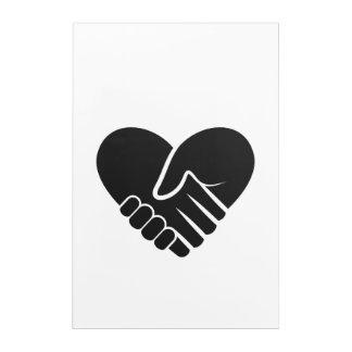 Love Connected black heart Acrylic Wall Art