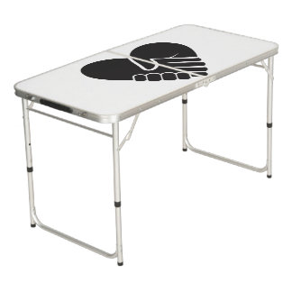 Love Connected black heart Beer Pong Table