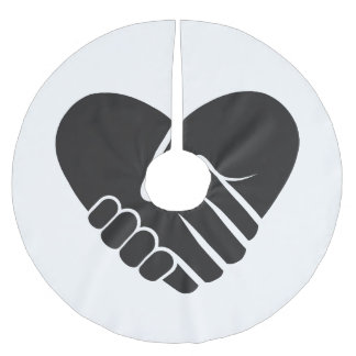 Love Connected black heart Brushed Polyester Tree Skirt
