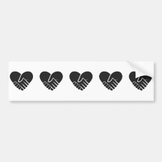Love Connected black heart Bumper Sticker