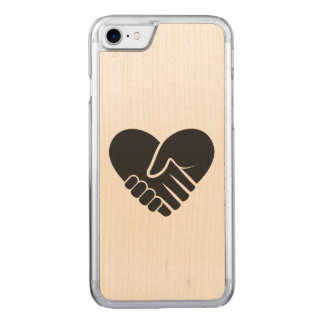Love Connected black heart Carved iPhone 8/7 Case