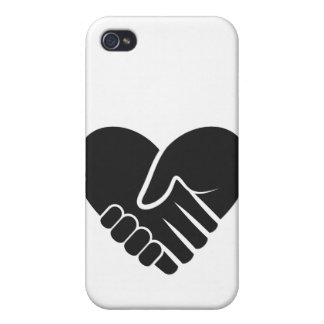 Love Connected black heart Case For The iPhone 4