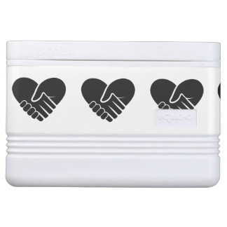 Love Connected black heart Cooler
