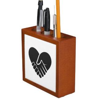 Love Connected black heart Desk Organiser