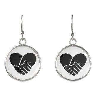 Love Connected black heart Earrings